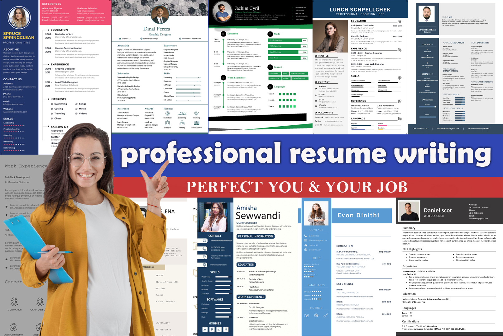 I will professionally design,  edit or rewrite your ats resume or modern CV