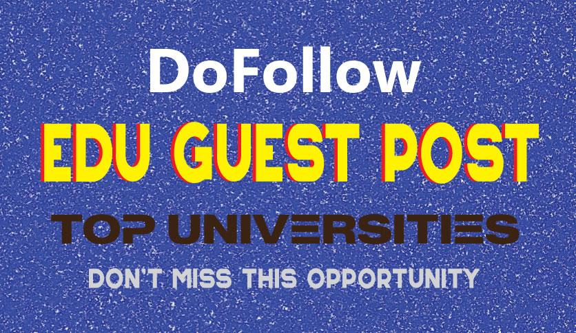 do edu guest post on high DA website