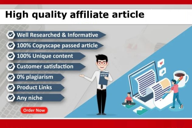 I will be your affiliate content and blog writing expert