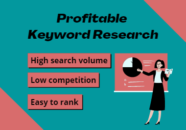 I will do Profitable Keyword Research for Your Website.