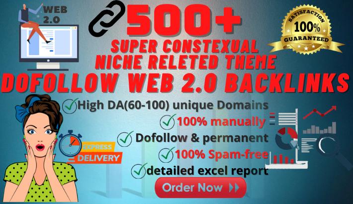 I will build 500 web 2 0 backlinks manually