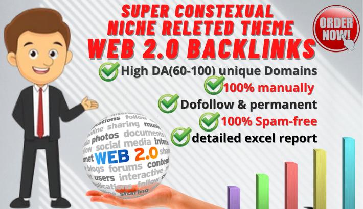 manually build web 2.0 backlinks with high DA websites