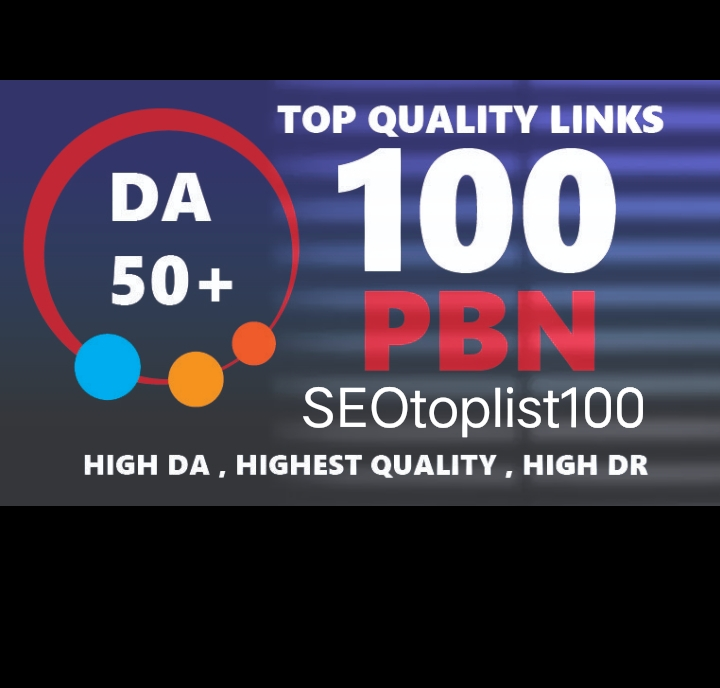 Create 100 PBNs DA50 to DA65+ Home Page PBNs Backlinks - Improve Site Google Ranking