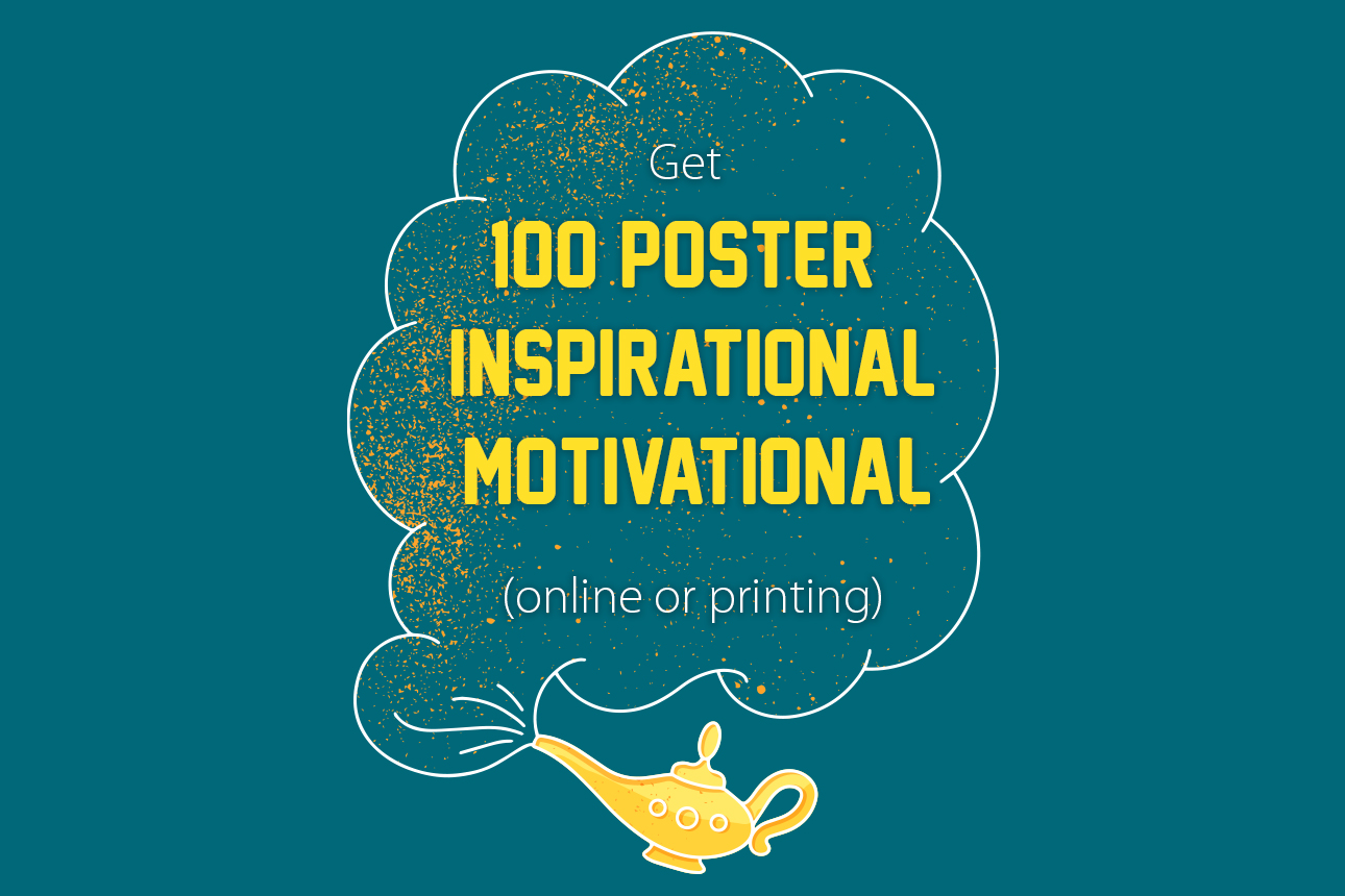 I will create 100 poster inspirational and motivational quotes