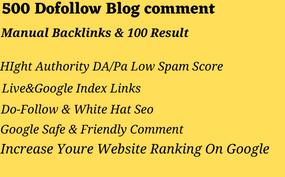 I will do 500 dofollow blogcomment backlink