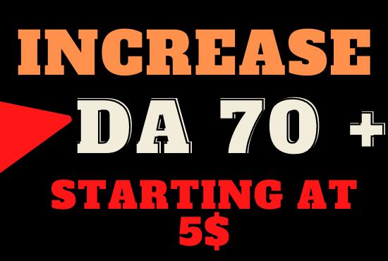I will increase MOZ DA Domain authority 60 plus