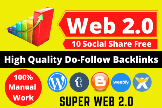 I will build 100 web 2 0 backlinks for you