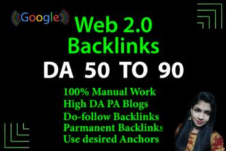 I will build 50 web 2 0 backlinks.