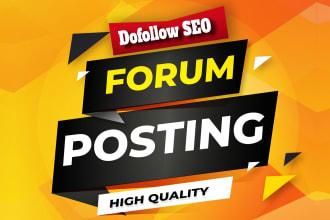 I will provide 100 forum backlinks with high da