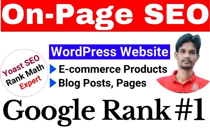 I will do the Best On Page SEO for your WordPress website,  eCommerce Products or Blogs