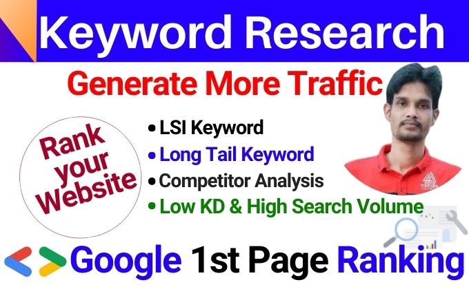 I will Research Profitable Long Tail Keywords with Competitor Analysis for SEO