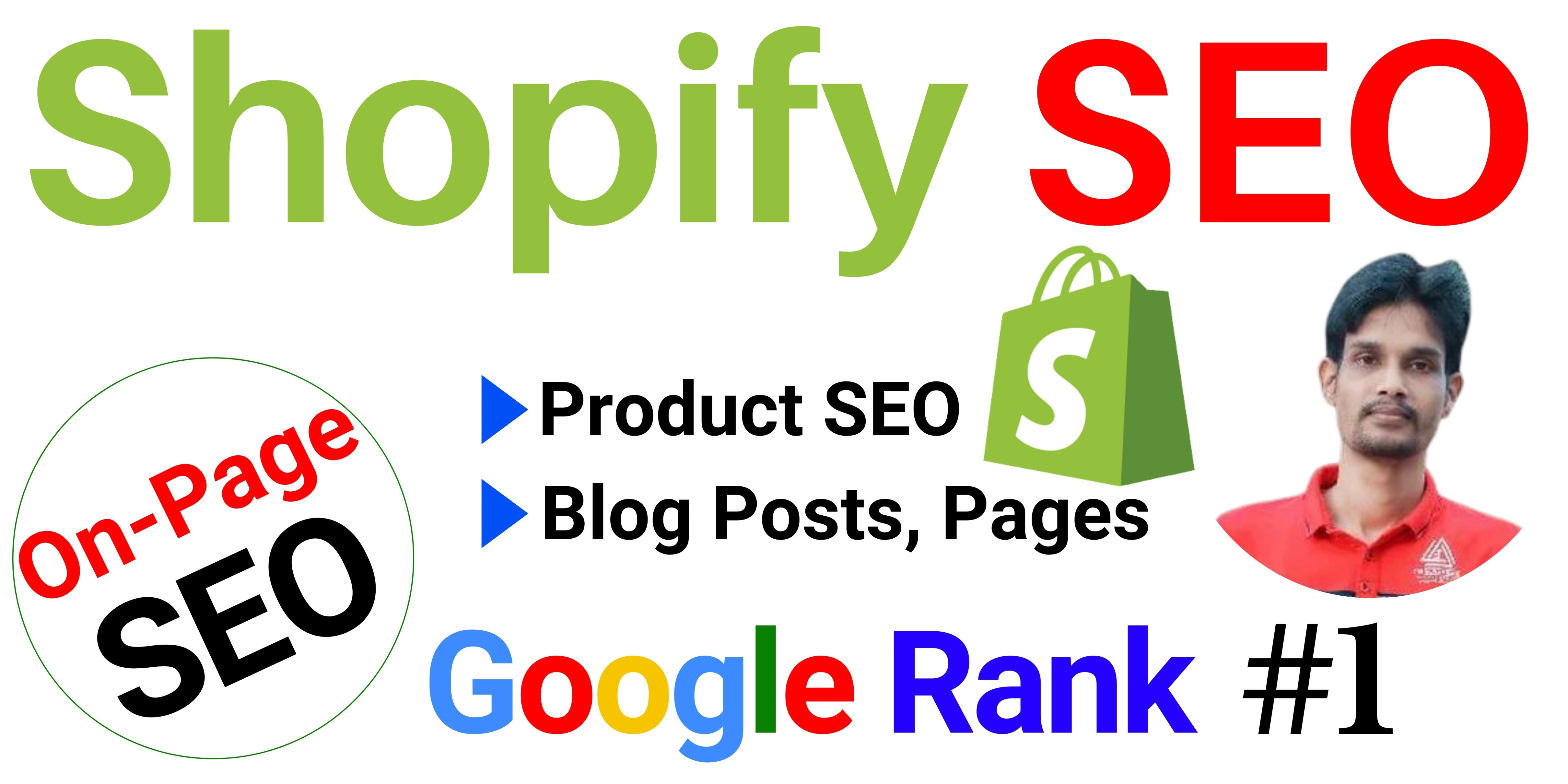 I will do the best On Page SEO for your Shopify Store to Rank on Google