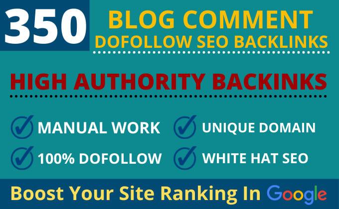 I Will Create 350 Dofollow Blog Comment SEO Backlinks