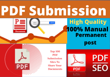 I will do 80 Dofollow Manually PDF submission on top high authority site