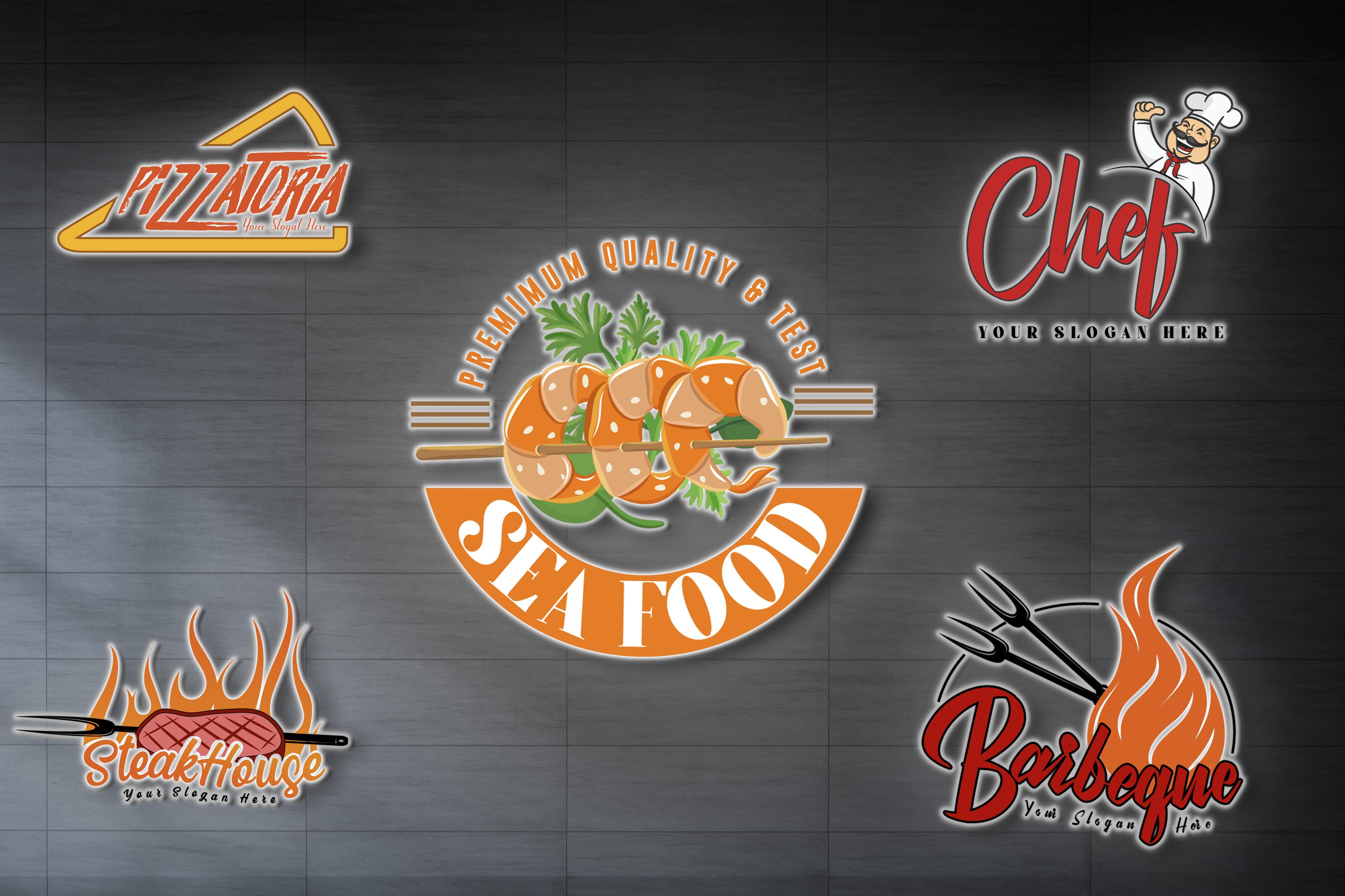 I am expert in food logo design