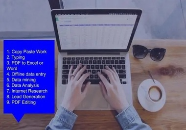 Be your trusted virtual assistant with Data Entry work