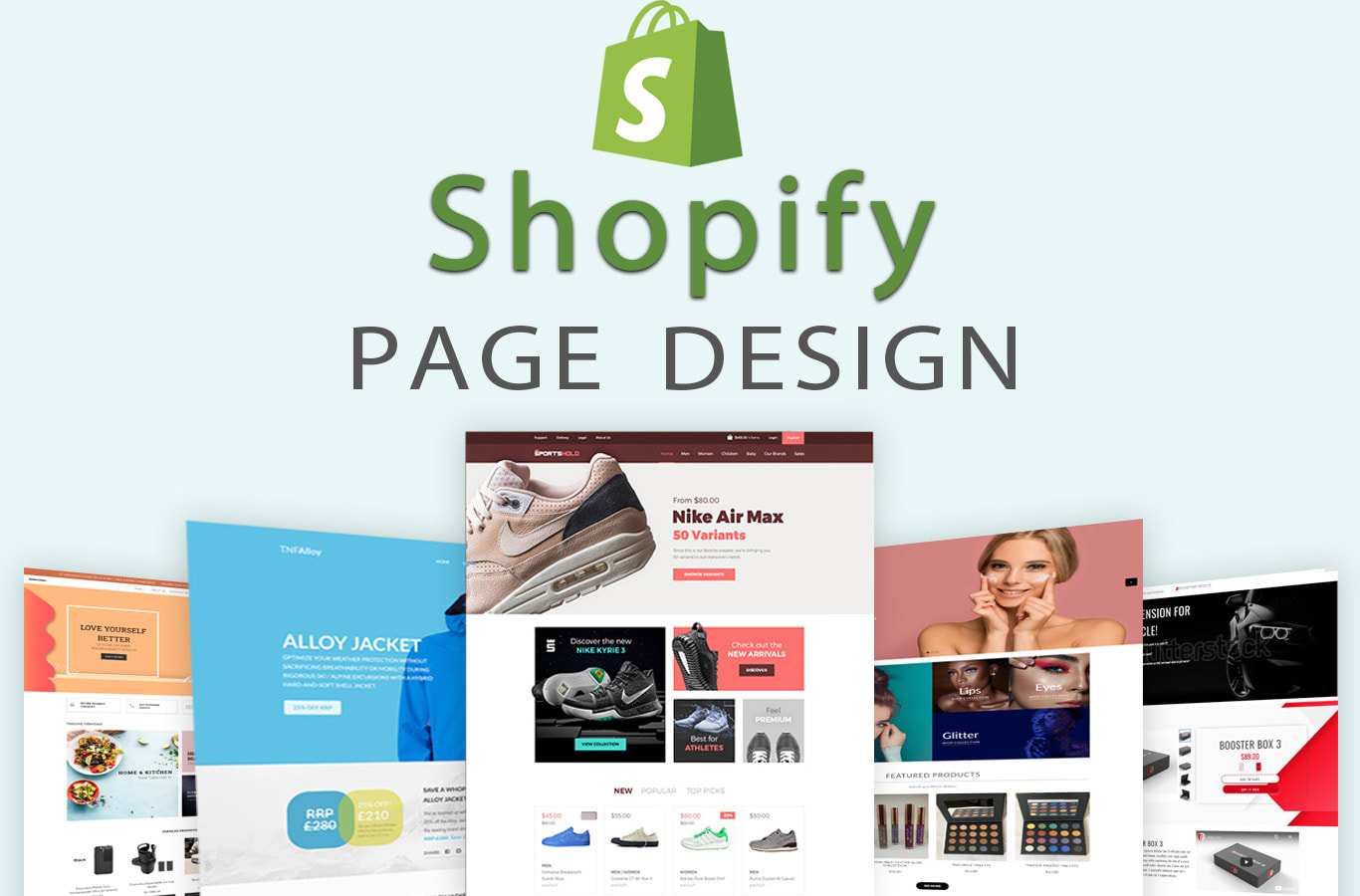 I will do shopify page design, landing page, product page, sales page