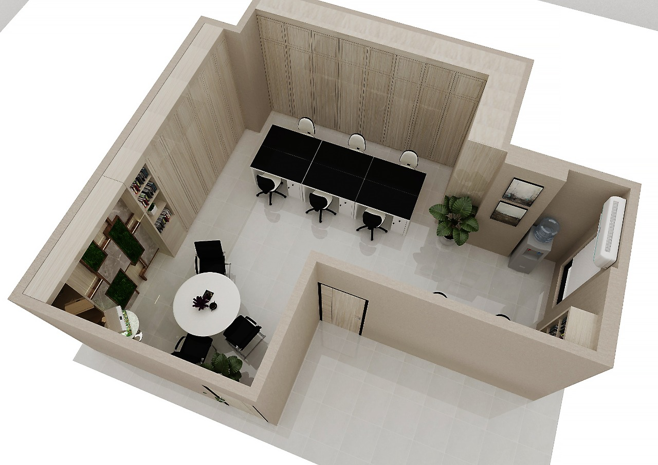 Make eksekutif your office looks reality 3D design with us