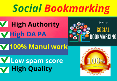 I will do 80 Social bookmarking high authority dofollow permanent sites