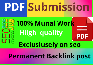 share 70 pdf submission dofollow backlink high authority low spam score high da manual
