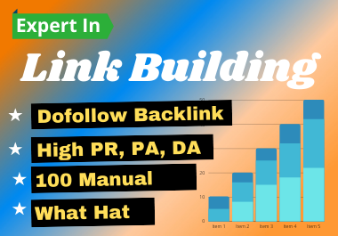 I will do 50 link building in high pa,  da sits,  dofollow backlink