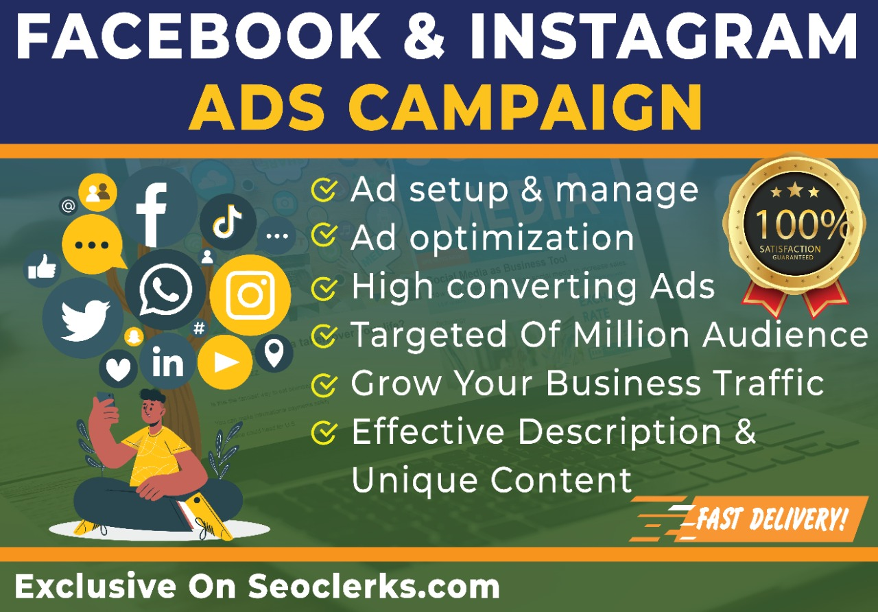 Setup your Facebook and Instagram ads campaign to grow your business