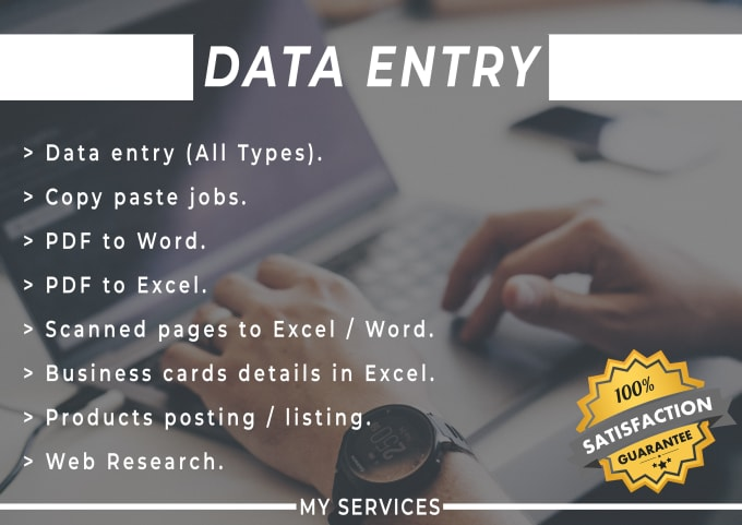 Data world provides you the best data entry work