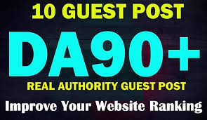 I will do Guest posts on high quality sites