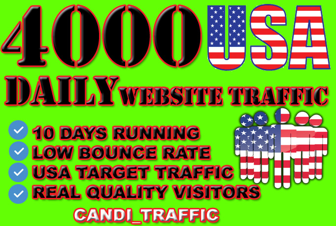 Drive traffic usa targeted visitors for low bounce rate