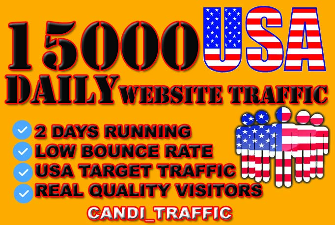 Generate usa targeted website traffic visitors for 2 days