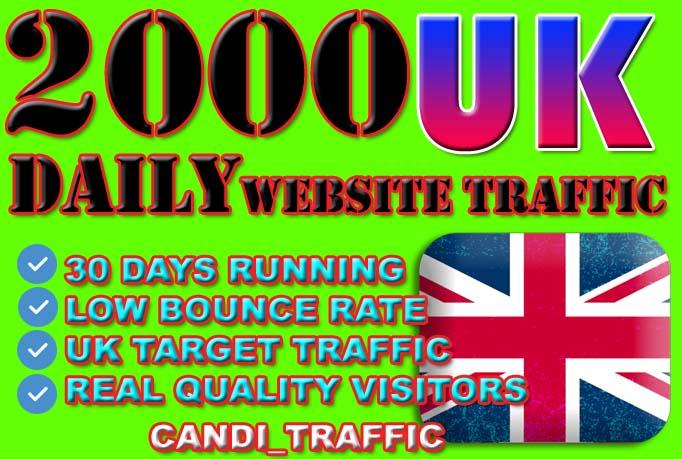 Drive target united kingdom real direct website traffic visitors