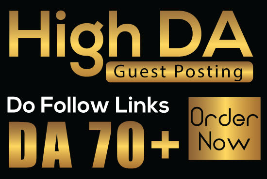 I will publish guest posts on high da sites with dofollow backlinks