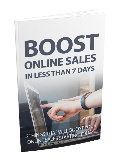 Online sales booster, in five steps for your business