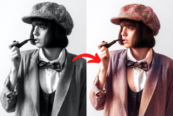 Black & White photos turn into colour photos