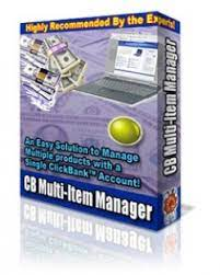 Products With a Single ClickBank Multi Product Manager