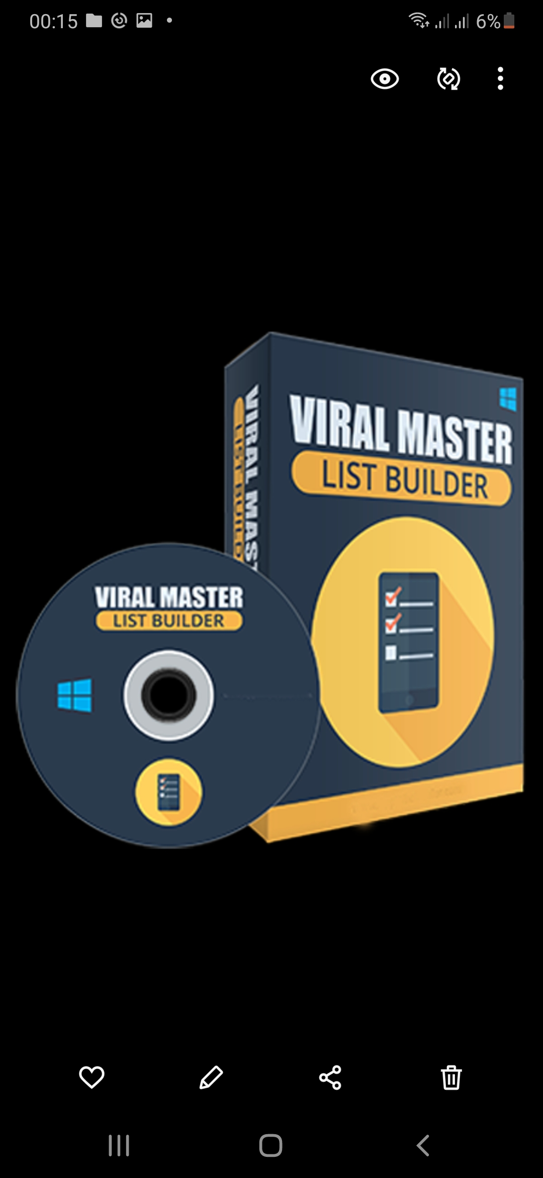 Viral master and list builder the great software