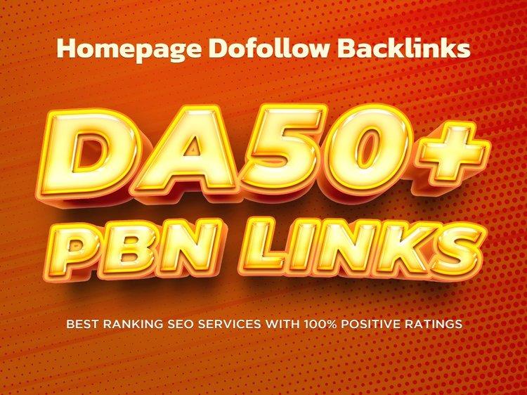Get 25 Homepage Posts DA50 plus PBNs backlinks