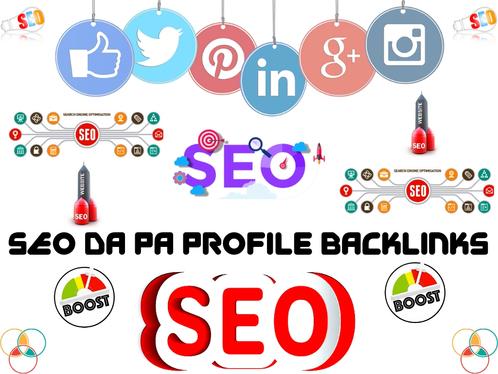 DA50+ 100+ High Quality Profile Backlink For Your Website