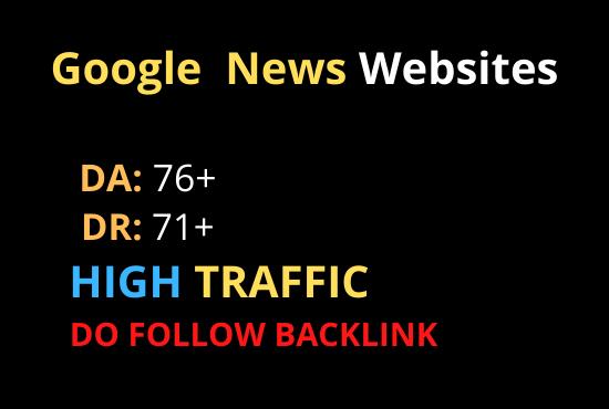 I will guest post on da 76 google news websites dofollow backlink