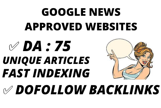 I will guest posting on da89 googlenews site with dofollow backlink
