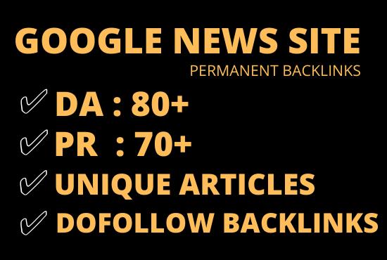I will do guest post on da 80 google news site permanent dofollow link