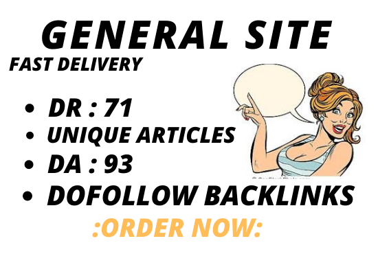 I will do guest post on general site da 93 dofollow backlink