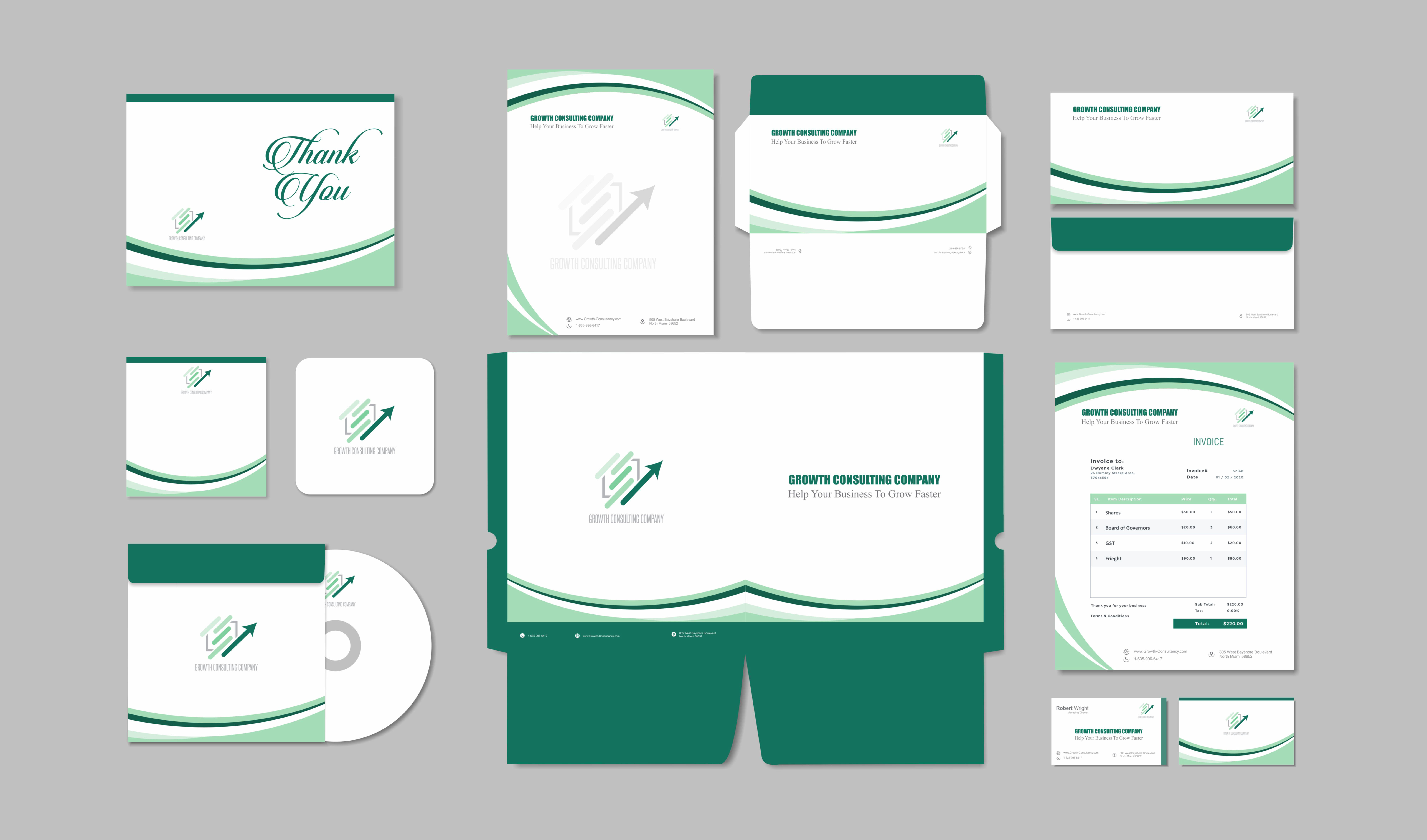 I will design business card,  letterhead and stationery