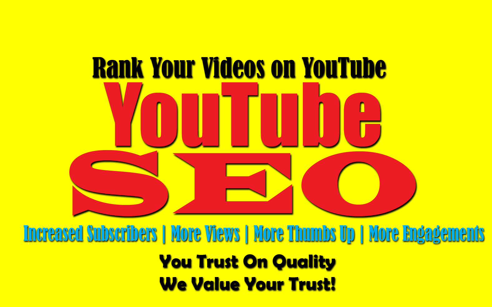 Rank Your Youtube Video With My Professional Youtube SEO Marketing Service