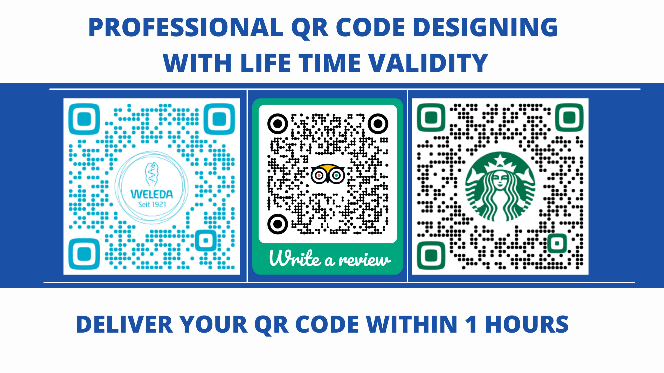 I'll create Unique,  Customized Colorful and Professional QR code designs