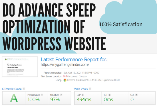 Fix your core Web vitals issues and speed optimization