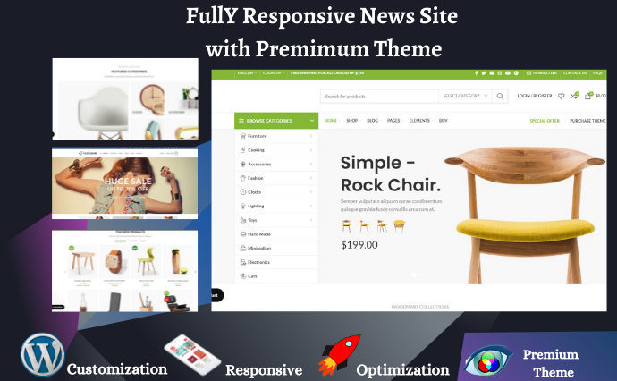 I will create responsive WordPress website with Premium theme and Plugins