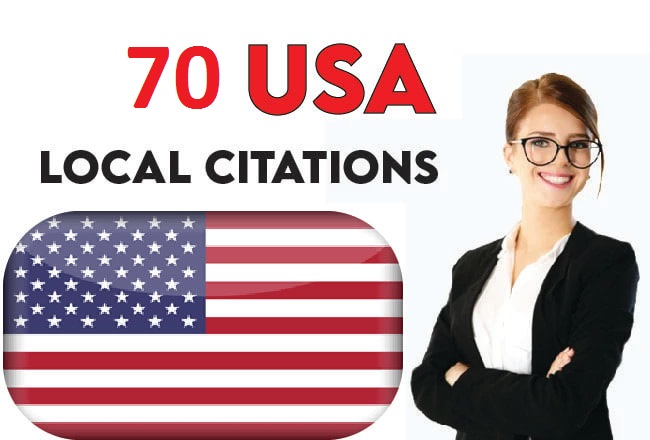I will create 70 USA local citations and directory submission