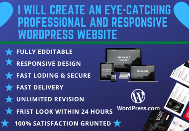 I will create an eye-catching professional and responsive WordPress website.