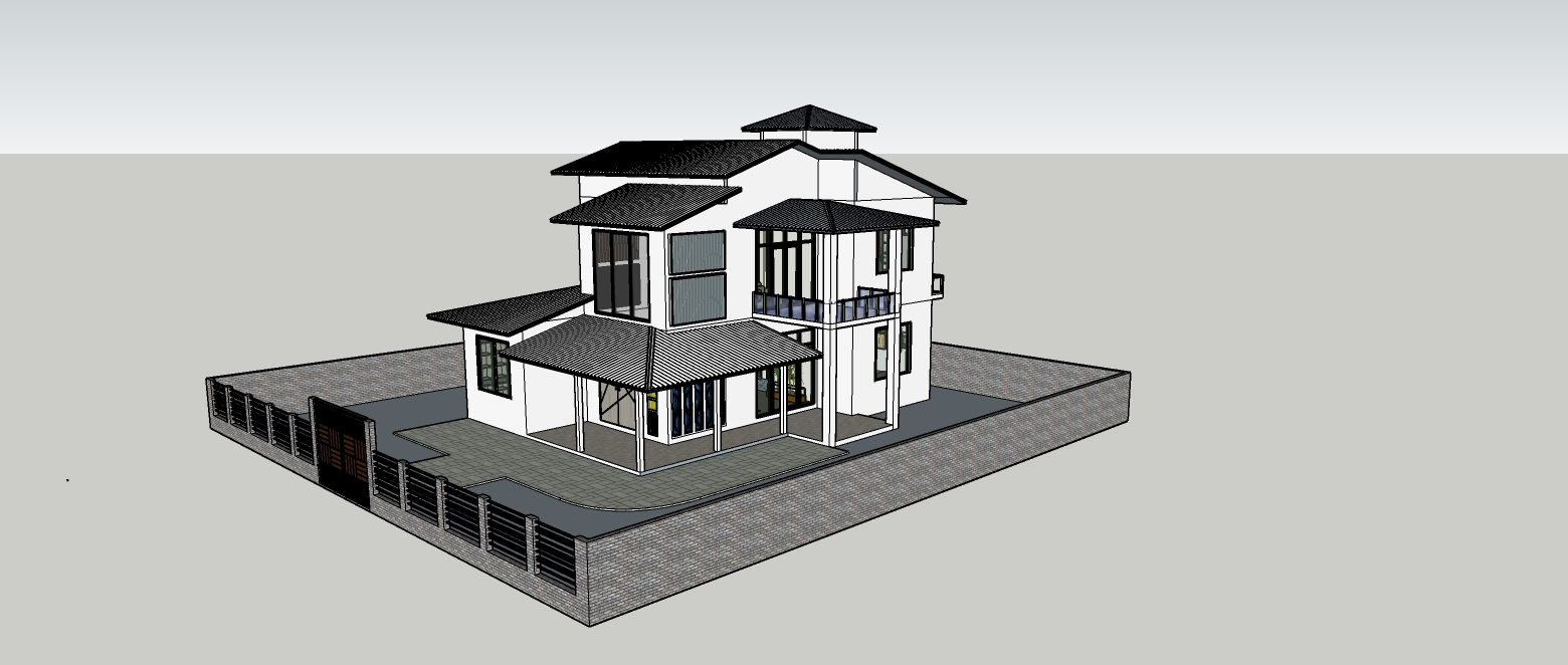 Design a House 3D model and Do interior Design